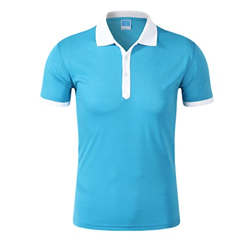 MTTROLI Herren T-Shirt Lake Blue+White Collar