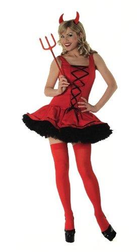 Parties Unwrapped Sexy Red Devil weiblich Halloween-Kostüm & Zubehör-Large (UK - Weibliche Red Devil Kostüm
