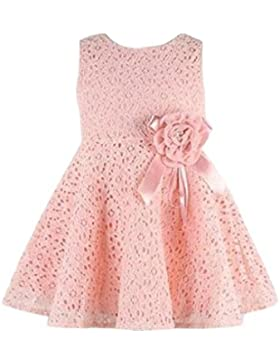 Covermason Niñas Moda Encaje Floral Decoración Midi Vestidos