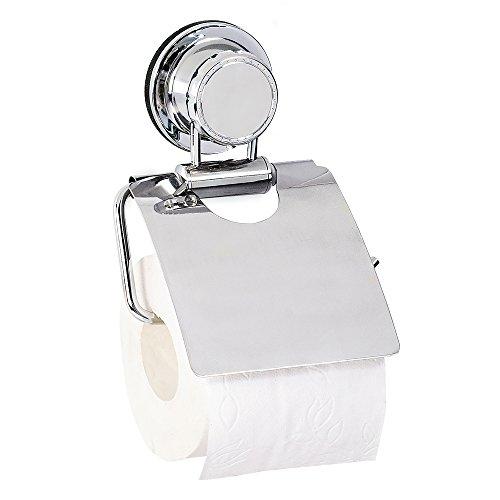 Preisvergleich Produktbild Tatkraft Vacuum Screw Ludwig Toilettenpapierhalter Saugnapf Stahl Verchromt 13.4X4.5X19cm
