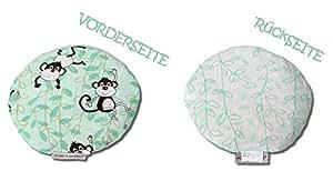 HOBEA-Germany Kirschkernkissen Wärmekissen Körnerkissen für Babys rund in verschiedenen Designs, Modell: Affen