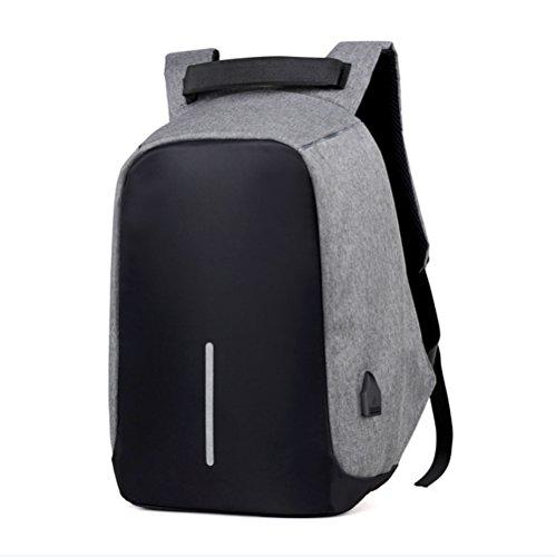 Ruanlei @ Tela Casual zaini viaggio/ laptop backpack / multifunzione zaino business/ Backpack resistente all'acquaUsb multifunzione business double borsa a tracolla, Grigio chiaro 32 pollici