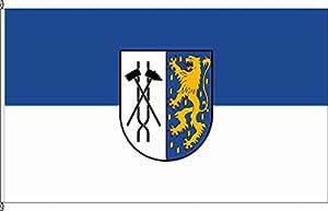 Königsbanner Tischfähnchen Völklingen - Tischflaggenständer aus Holz