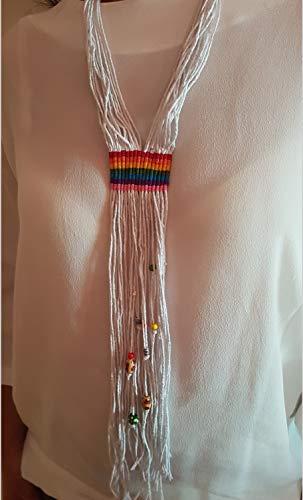 kramee Anhänger LGTBI Extra lange ethnische Halskette, Silber Perlen Tribal Modell zu wählen ()