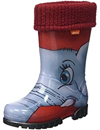Toughees Shoes Character Welly With Removable Sock- Bottes de Pluie mixte enfant, Rouge, 25 EU enfant