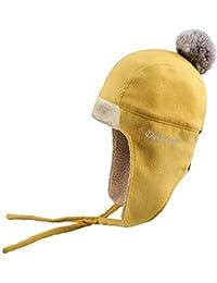 XIAOGEGE Sombrero Mujer Invierno Sombrero frío Orejeras Engrosada Cabeza  Tapa Gorra de esquí e39ab730269
