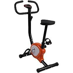 SWEEPID Vélo d'appartement Cardio Fitness Musculation LCD reglable resistance Pas Cher 110 Kg Capacità Orange & Blanc