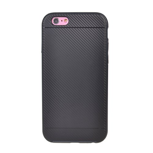 iPhone 6 Plus/ 6s Plus (5.5) Coque,COOLKE Carbon Fibre TPU Silicone and PC Bumper Protective Case Cover for Apple iPhone 6 Plus/ 6s Plus (5.5 inches) - Argent Argent