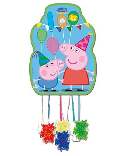 Peppa Pig - Piñata perfil, 33x46 cm para cumpleaños y celebraciones(Verbetena 016000730)