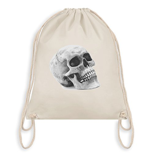Piraten & Totenkopf - Totenkopf Skull - Borsa Da Palestra I Gym Bag Bianco Naturale