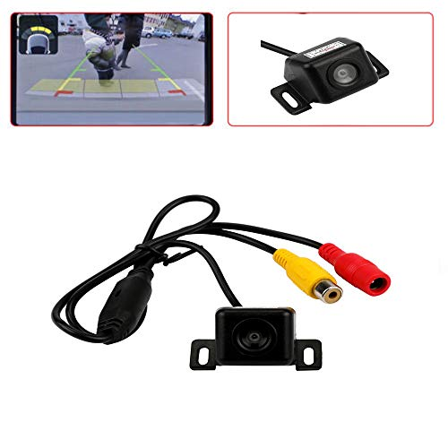 Jamicy® Auto Einparkhilfe Autoparksysteme Rückfahrkamera-Set, 170° Weitwinkel- Rückfahrkamera, IP68 wasserdicht, 18IR Nachtsicht (E312)