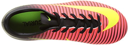 Nike Mercurial Vapor Xi Ag, Chaussures de Football Mixte Enfant Rouge (Total Crimson/Vlt/Blk/Pnk Blst)