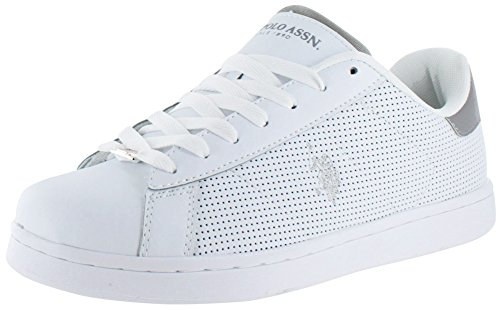 us-polo-association-zapatillas-de-material-sinttico-para-hombre-blanco-blanco-gris