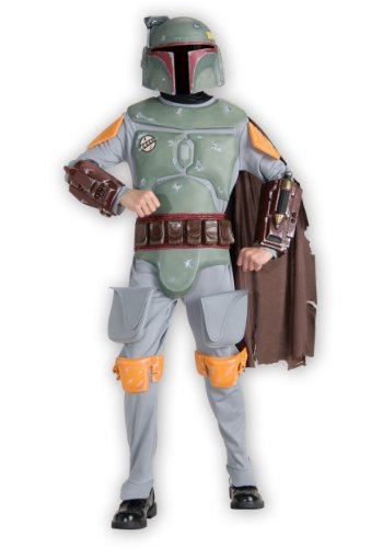 Kids Deluxe Boba Fett Fancy dress costume (Boba Deluxe Fett Kostüme)
