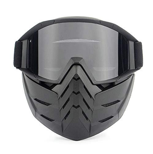 Epinki Erwachsene PC Maske Fahrradbrille Schutzbrillen Motorradbrillen Cross-Country-Brille Sandkontrolle für Motorrad Fahrrad Helmkompatible, Schwarz Grau