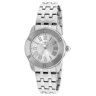 Invicta 20369 Angel Reloj para Mujer acero inoxidable Cuarzo Esfera plata