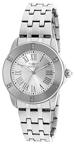 Invicta 20369 Angel Women's Wrist Watch Stainless Steel Quartz Silver Dial