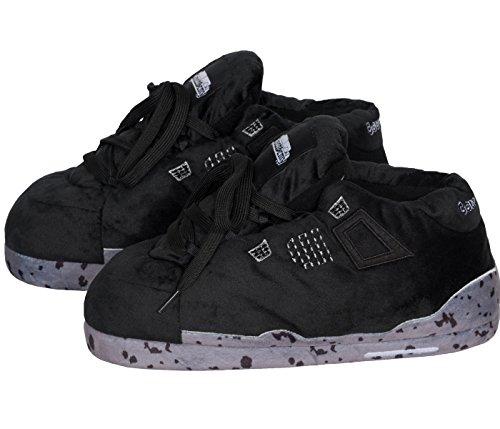 Coucharmy Jay Chausson Pantoufles Unisex Home Slippers Sneakers AJ4 Retro (36-46) Noir/Gris