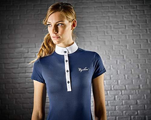 Equiline Damen Poloshirt Grace Kurzarm atmungsaktiv X-Premium Gewebe, weiß, Farbe:weiß, Größe:M