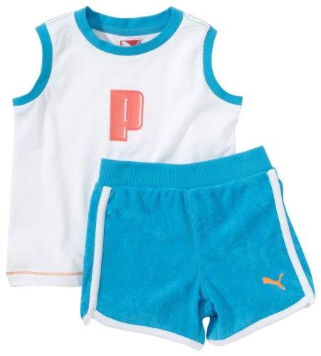Puma Kinder Baby Summer Unisex Set, Hawaiian Ocean, 86 (Trainingsanzug Puma Kleinkind)