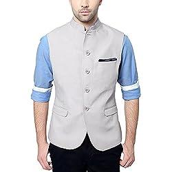 Van Heusen Men's Slim Fit Plain Blazers (Grey, 40, 8907219222563)
