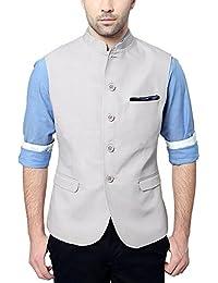 Van Heusen Men's Slim Fit Plain Blazers (Grey, 40)