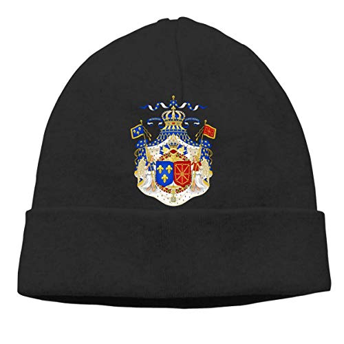 Emblem of French Republic Warm Stretchy Solid Daily Skull Cap Knit Wool Beanie Hat Outdoor Winter Fashion Warm Beanie Hat