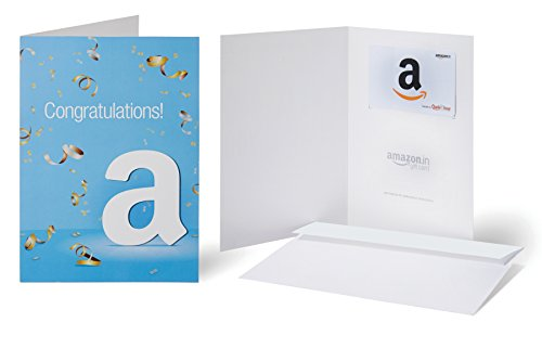 Amazon.in Gift Card with Greeting Card - Rs.10000 ( Congratulations )
