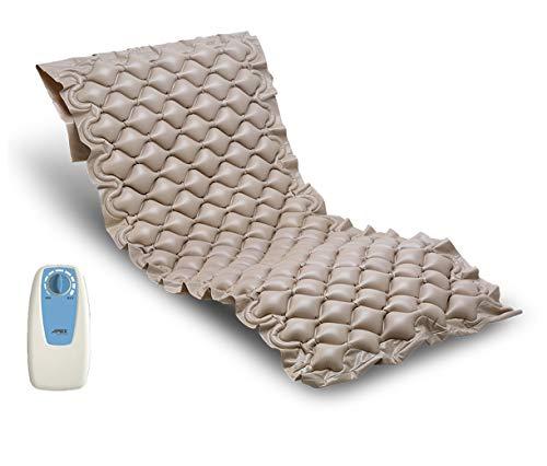 Duermete Colchón Antiescaras con Compresor Serie Oasis | Previene Llagas En La Piel | Peso hasta 100 kg | Fácil Limpieza, Material ignífugo y PVC médico, Medida Universal