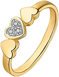 CHRIST Diamonds Damen-Ring 375er Gelbgold 3 Diamant ca. 0,015 (gold)