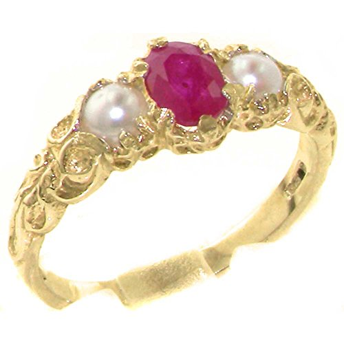 10ct-yellow-gold-natural-ruby-cultured-pearl-womens-trilogy-ring-size-t-1-2-sizes-j-to-z-available