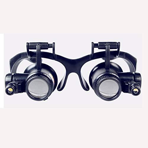 WANGYDFDJ Brillenreparatur Lupe LED Mit Licht Fernglas 8 Sets Okulare Inspektion Hohe Schmuck Elektronische Schaltung Clear Time Clock Silber Dollar Münzen Mitesser