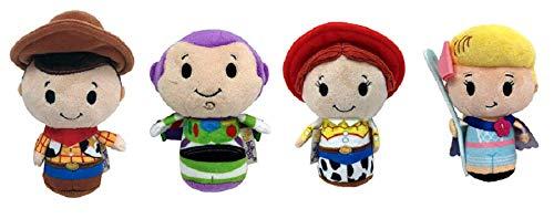 Toy Story Itty Bitty Woody, Buzz, Jessie, BO Peep Set of 4 Soft Toys New
