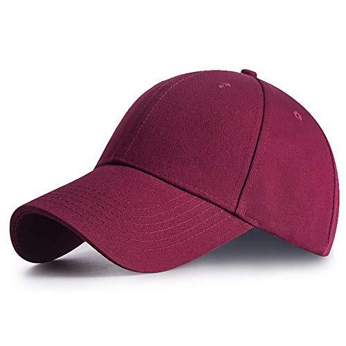 Bwiv Baseball Cap Herren Verstellbar Basecap Luftlöchern Sonnenschutz Damen Baseballkappe Cap Unisex Mütze Baumwolle Cappy für Sport Reisen Draußen Rot