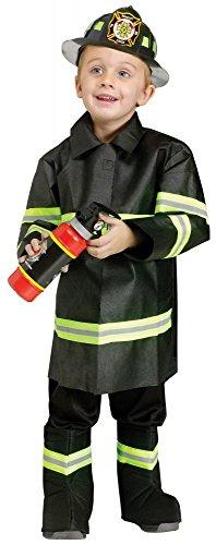 Kinder-Kostüm Feuerwehrmann Gr. 104 3-4 Jahre Kleinkind Jungen Sam (Feuerwehr Halloween Kostüme Männer)