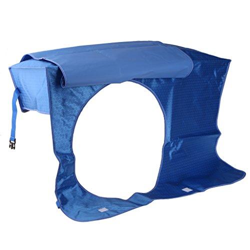 Fenteer Fenster Klimaanlage Abdeckung Außengerät Regendicht Schutzhülle Schutzabdeckung - #3 Blau