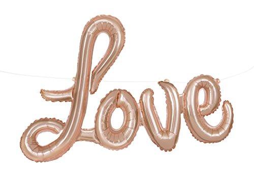 Folie Rose Gold Love Buchstabe Ballon Banner Kit (Buchstaben-ballons Valentinstag)