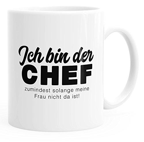 Kaffee-Tasse Spruch Ich bin der Chef zumindest so lange meine Frau nicht da ist einfarbig MoonWorks...