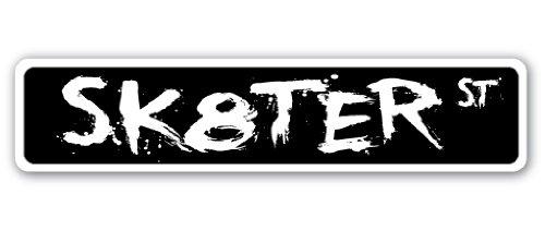 Sk8ter Straßenschild Skateboard Skates BOI Skaten Eislaufbahn Roller, Plastik, Grün, XXL -