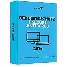 F-Secure Anti-Virus 2016 PC & Mac - 1 Jahr / 3 Computer