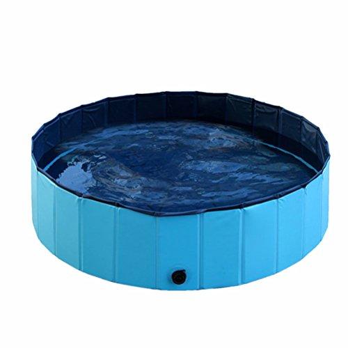POPETPOP Popopopp Faltbare Badewanne für Hunde und Katzen, Blau, 80 x 20 cm