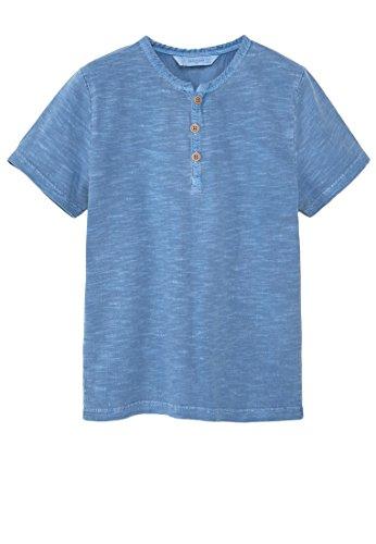 mango-kids-t-shirt-coton-col-t-shirt-tunisien-taille11-12-ans-couleurbleu-porcelaine
