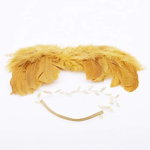 Kingus Gold Angel Wings Kostüm Foto Fotografie Feder Fee Kostüm Dekoration Party Supplies (Gold Angel Kostüm)