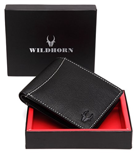 wildhorn® old river black genuine high quality men's leather wallet WildHorn® Old River Black Genuine High Quality Men's Leather Wallet 410SI59EHxL