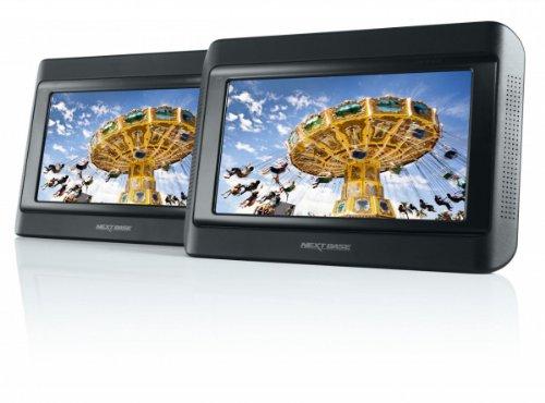 Nextbase Click 9 Lite Duo tragbarer DVD-Player 22,8 cm (9 Zoll) mit 2 Bildschirmen inkl. Auto-Holmhalterung - Tragbare 9 Tv-dvd-player Zoll