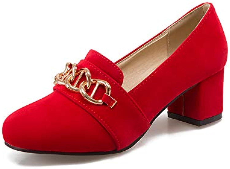 Wouomo Block Heel Heel Heel Heels Round Head scarpe 8e451a