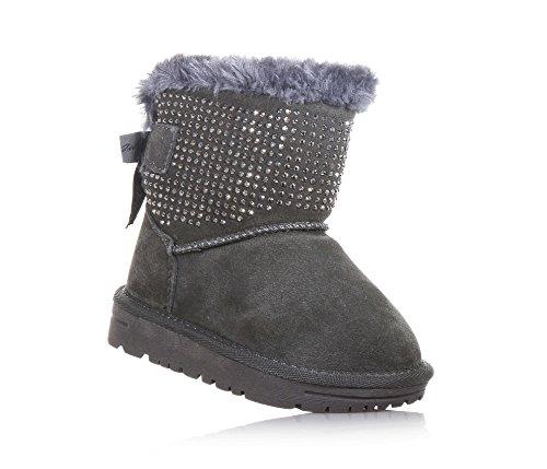 LIU JO - Bottine grise en suède, strass décoratifs sur la partie inférieure de la chaussure, Fille, Filles, Femme, Femmes