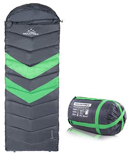MOUNTREX® Schlafsack für Camping & Outdoor   3 Jahreszeiten Warmer Deckenschlafsack 205 x 75cm   1.6 Kg   Koppelbar - Rechts