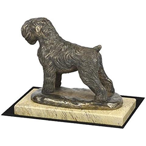 Terrier ruso negro, Perro arena estatua base de mármol, de edición limitada, ArtDog