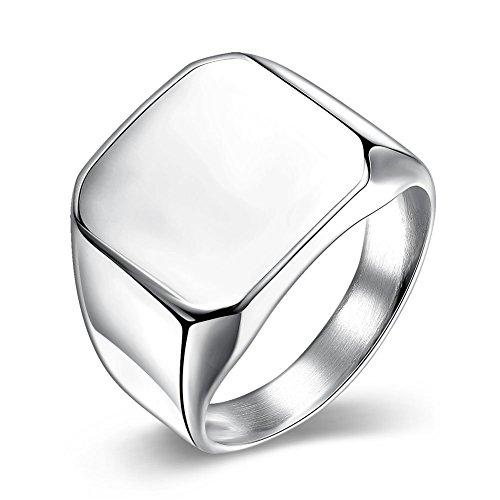 NYKKOLA-Acciaio inox lucido placcato in platino, Fidanzamento Eternity Anello Taglia 7-10, acciaio inossidabile, 61 (19.4), cod. XGTGR023-B-9